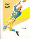 1958 10/10 UCLA vs Florida Football em Program  & press play by play notes