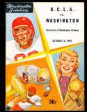 1958 10/18 UCLA vs Washington Football em Program