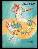 1960 12/3 UCLA vs Duke Football Program & play by play press notes