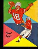 1960 9/17 UCLA vs Pittsburgh Football Program & play by play press notes