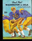1963 11/16 UCLA vs Washington Football Program & play by play press notes