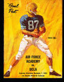1964 11/7 UCLA vs Air Force Academy Football Program & play by play press notes