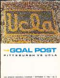 1966 9/17 UCLA vs Pittsburgh Football Program