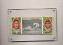 1912 t202 Hassan triple folder Davy Jones Great Slide ; Jas Delahanty, David Jones