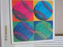 Baseball Andy Warhol art  18x18
