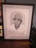 Billy Williams signed print HoF chicago cubs 34/1000