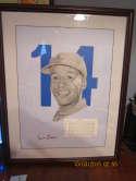 Ernie Banks signed print HoF chicago cubs 128/512