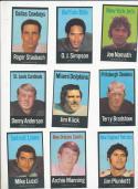 1972 NFL NFLPA players association 35 card cloth set - near mint!  HOF's