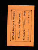 1914 9/26 Hobart vs Syracuse Football Program; complete