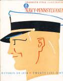 1938 10/29 Navy vs Pennsylvania Football Program