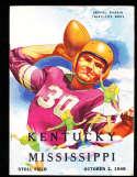 1948 10/2 Kentucky vs Mississippi football program