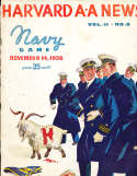 1936 11/14 Harvard vs Navy football program 52 pages complete
