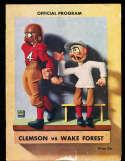 1936 10/17 Clemson vs Wake Forest football program