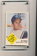 1963 Joe Adcock Fleer Cleveland Indians 46  nrmt