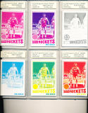 1977 topps basketball card Mike Newlin Houston Rockets 10 Progressive proof card set