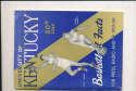 1953 University of Kentucky Basketball Guide & stats & order letter