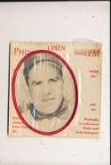 1963 Photo Linen Emblem Yogi Berra New York Yankees  card
