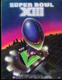 Superbowl XIII 13 Football Program NM Dallas Cowboys vs Pittsburgh Steelers