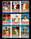 1976 Hostess baseball cards 50 uncut 1-150 cards nm