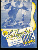 8/27 1947 IntraSquad Los Angeles Rams Football Program