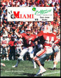 1986 12/13 Miami Media Guide California Bowl VI