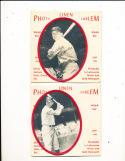 1963 New York Yankees Photo Linen Emblem 8 card set  Mickey Mantle Roger Maris Yogi Berra