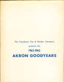 1962 Akron Goodyears Press Kit Media Guide