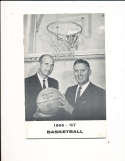 1966 George Washington University Basketball Press Media Guide