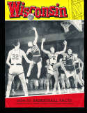 1954 Wisconsin Basketball Media & Press guide rare!