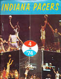 1974 Indiana Pacers Basketball Yearbook ABA