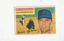 1956 Topps signed #198 Ed Fitzgerald Washington ex