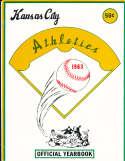 1963 Kansas City Athletics  Baseball Yearbook;  em/nm bxb1