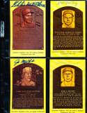 Ed Roush HOF Yellow Plaque Signed Post Card