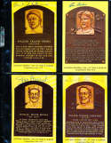 Burleigh Grimes HOF Yellow Plaque Signed Post Card
