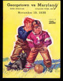 1938 11/19 Georgetown vs Maryland Football Program