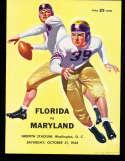 1942 10/31 Florida vs Maryland Football Program