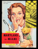 1962 10/19 Miami vs Maryland Football Program CFBbx10