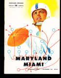 1954 10/22 Miami vs Maryland Football Program