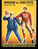 1939 10/28 Missouri vs Iowa State football program