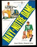 1955 10/29 Navy vs Notre Dame football program