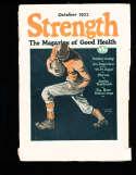 1922 October Strength Magazine torn spine
