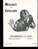 1948 Missouri vs Colorado football program