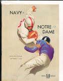 1952 11/1 Navy vs Notre Dame football program