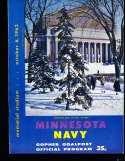 1962 10/6 Minnesota vs Navy football program