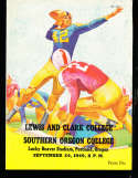 1949 9/24 Lewis and clark vs Southern Oregon football program