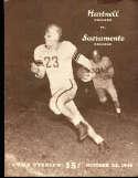1948 10/23 Hartnell vs Sacramento football program