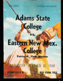 1948 10/16 Adams state vs E. New Mexico football program
