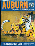 1974 10/19 Auburn vs Georgia Tech Football Program