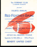 1955 9/10 Central Michigan vs Kansas State Football Program
