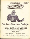 1946 10/11 Sul Ross vs Texas Luthern Football Program